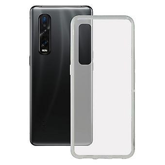 Mobile cover Oppo Find X2 Pro KSIX Flex TPU Transparent