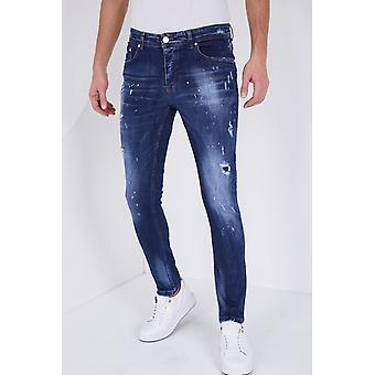 Paint Drops Jeans - Slim Fit - 5301C - Blue