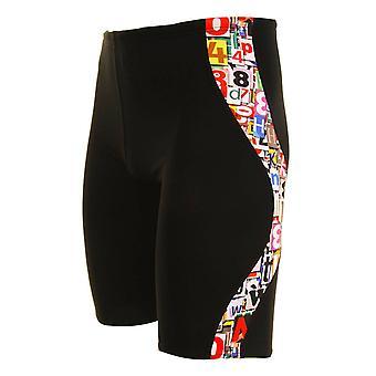 Maru Mens Alphabet Pacer Jammer Swim Shorts Trunks MS4572