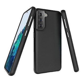 Samsung Galaxy S21 -kotelon panssarisuoja vahva kansi musta