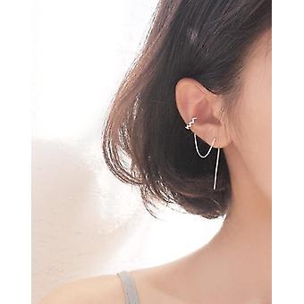 Long Tassel Cuff Earrings