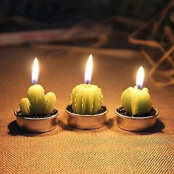 Kaktuskynttilä 6kpl setti