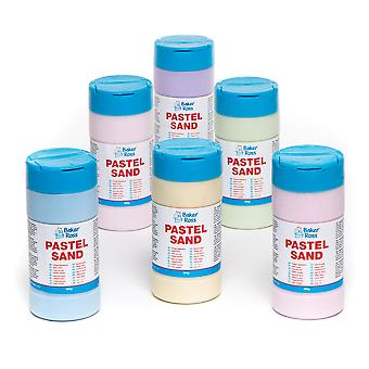 Nisip colorat pastel pentru copii, artizanat de artă cu nisip&efecte de vopsea texturate (cutie de 6)