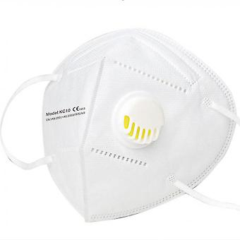 10 Pieces Respirator Mask Ffp2 Face Mask With Valve White