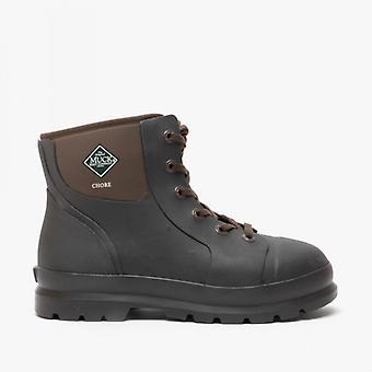 Muck Boots Chore Classic Short Mens Rubber Waterproof Boots Brown