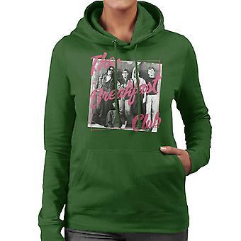 The Breakfast Club Pink Text Tecken på Skåp Women's Hooded Sweatshirt
