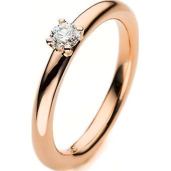 Luna Creation Promessa Solitairering 1E455R854-3 - Ancho del anillo: 54