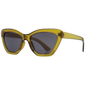Französisch Verbindung Mode Ecksonnenbrille - Olivgrün