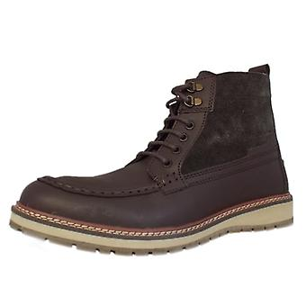 Chatham Carlton Men's Casual High Ankle Boots In Dark Brown