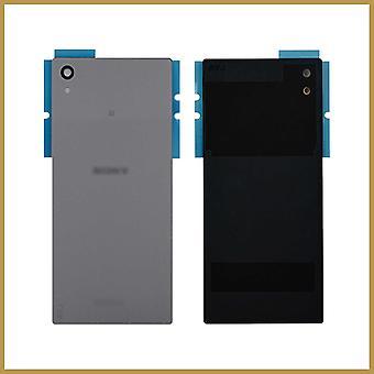 Til Sony Xperia Z5 udskiftning batteri bagdørsdæksel bagglas med klæbemiddel - sølv