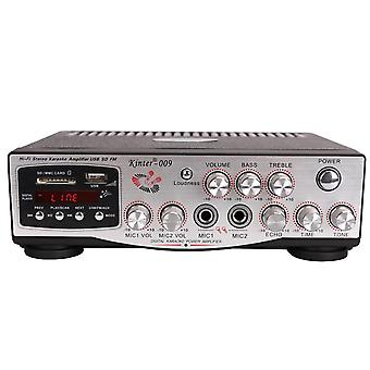 Kinter-009 2x100W HIFI Lossless Amplifier 220V with Remote Control Support Memory Card USB FM Microp