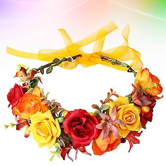 Simulação Rose Garland Headband para Fotografia de Noivas