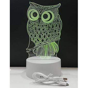 3d Luminous Owl Night Light