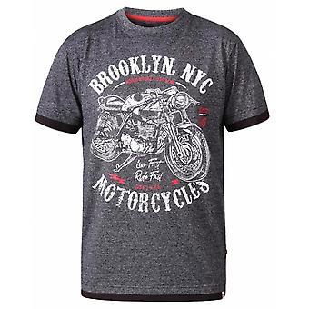 DUKE Duke - D555 Brooklyn Motocicletas camiseta del cuello de la tripulación