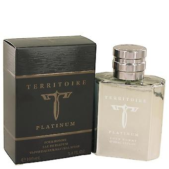 Territoire Platinum Eau De Parfum Spray By YZY Perfume 3.4 oz Eau De Parfum Spray