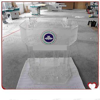 Unikt design og moderne akryl podium prædikestol Lectern