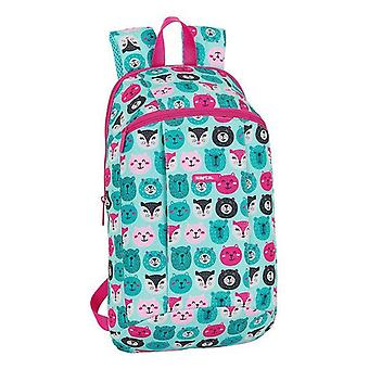 Casual backpack safta crazy pattern