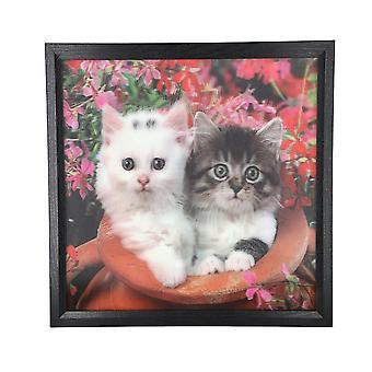 Realistisk 5D-kattmålning (storlek 43.5x43.5x4.5cm)