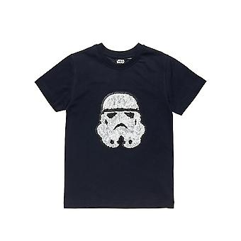 Alouette Boys' T-Shirt With Sequins In Stormtrooper Design
