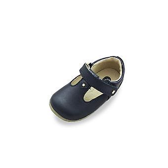 Bobux step up louise navy t-bar shoes