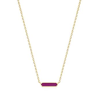 Ania Haie Berry Enamel Bar Gold Necklace N028-03G-R