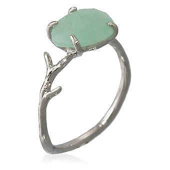 Anello d'argento 'Lily' Green Aventurine