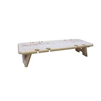 Whitewash 8 Glasses Portable Folding Wine Table In Reclaimed Wood