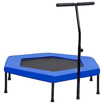 vidaXL Fitness trampoline with handle safety pad hexagon 122 cm