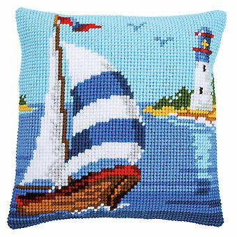 Vervaco Cross Stitch Kit: Coussin: Voilier