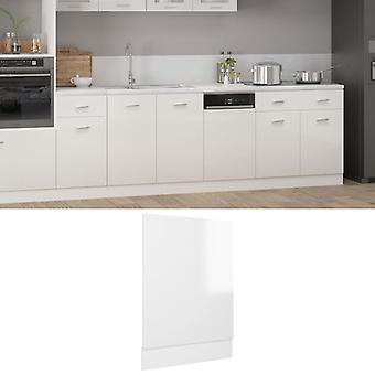 vidaXL dishwasher hood high gloss white 45x3x67 cm chipboard