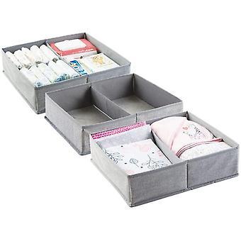 FengChun 3er-Set Baby Organizer mit je zwei Fchern groe Aufbewahrungsbox fr Windeln, Feuchttcher,