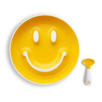 FengChun Smile 'n Scoop Kinderteller- und Lffelset, gelb