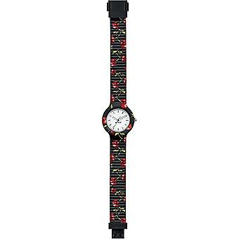 WOMEN'S HIP HOP watch FRUIT white dial and cherry black silicone strap, TIME ONLY movement - 3H QUARTZ