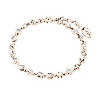 s.Oliver, women's bracelet, silver 925 plated rose gold with zircons(1)