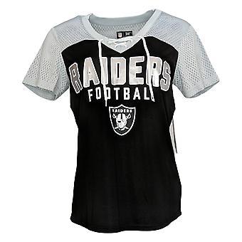 NFL Dames Top Lace Up Soft T-shirt met korte mouwen Zwart A311204
