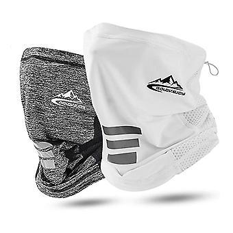 2Pack Ice Silk Cooling Motorfiets Nek sjaal, Masker voor Outdoors Sports
