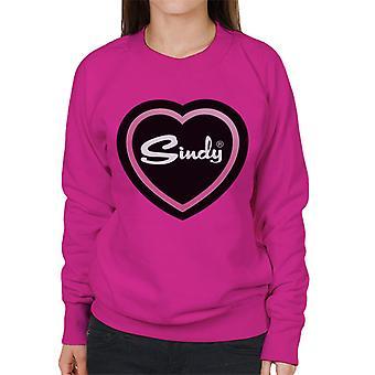 Sindy Pink Love Heart Women's Sweatshirt