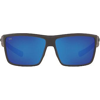 Costa Del Mar Pánske Rinconcito Polarizované obdĺžnikové slnečné okuliare - matná sivá/modrá Zrkadlová - 60 mm