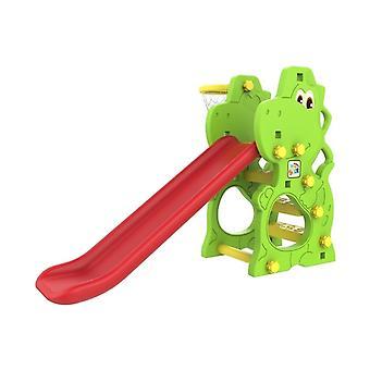 Kisgyermek csúszda 140 cm kosárlabda hálóval – Dino – Zöld