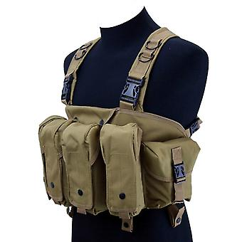 High quality outdoor tactical chest rig airsoft hunting vest molle magazine pouch simple military