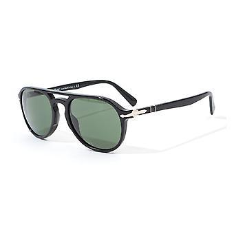 Persol Green Lens Sunglasses - Black