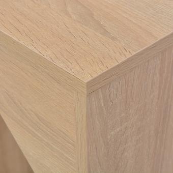 vidaXL Bar table with movable shelf oak brown 138 x 40 x 120 cm