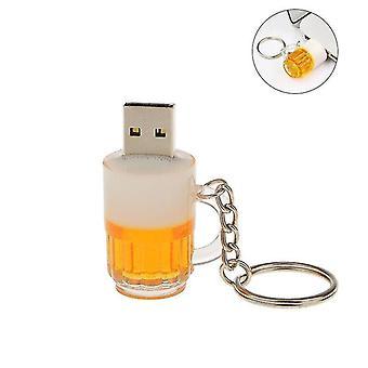 128Gb sör bögre usb flash meghajtó usb memória stick pen meghajtó kulcstartó cai1000