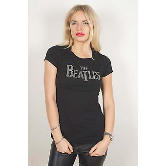 The Beatles - Drop T Logo Women's XX-Large Fashion T-Shirt - Noir