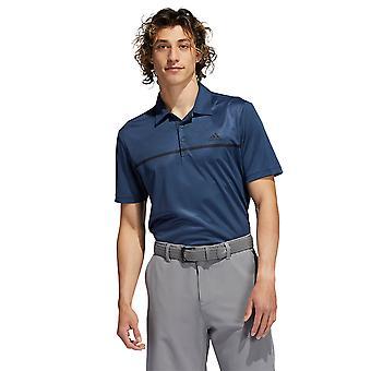 adidas Golf Męski 2021 Chest Print Oddychająca koszulka polo Primegreen UV 50+