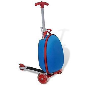 Kinder Scooter mit Roll Case Blue