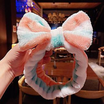 Wash Face Hair Holder Hairbands Coral Fleece Girls Turban Fashion Hair Accessories(54#)