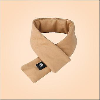 New Style Pure Cotton Smart Heating Scarf Usb Winter Warm Protect Cervical Spine(Khaki)