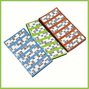 8 Pads of 6 To View Bingo Single Flyers (6000 Tickets) - Green
