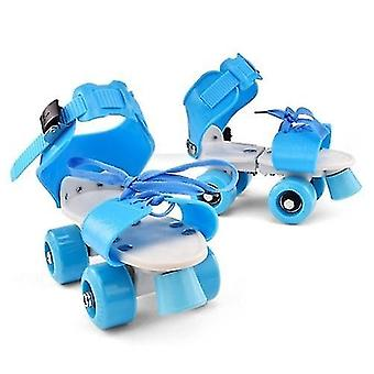 Ab wheels rollers adjustable size children roller skates double row skates skating shoes double wheels skates for beginners girls boys